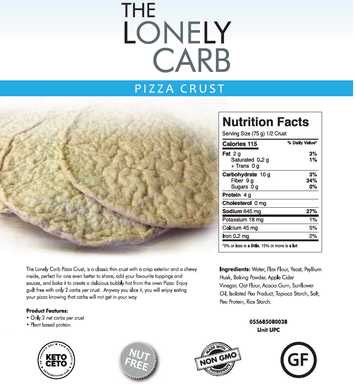 Low-Carb Pizza Crusts by The Lonely Carb (2 Pack)
