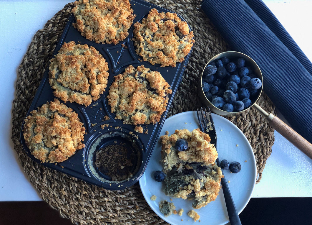 #KETO Muffin - Blueberry Crumble Tumble