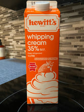 Load image into Gallery viewer, Hewitt's 35% Heavy Whipping Cream (1L)*