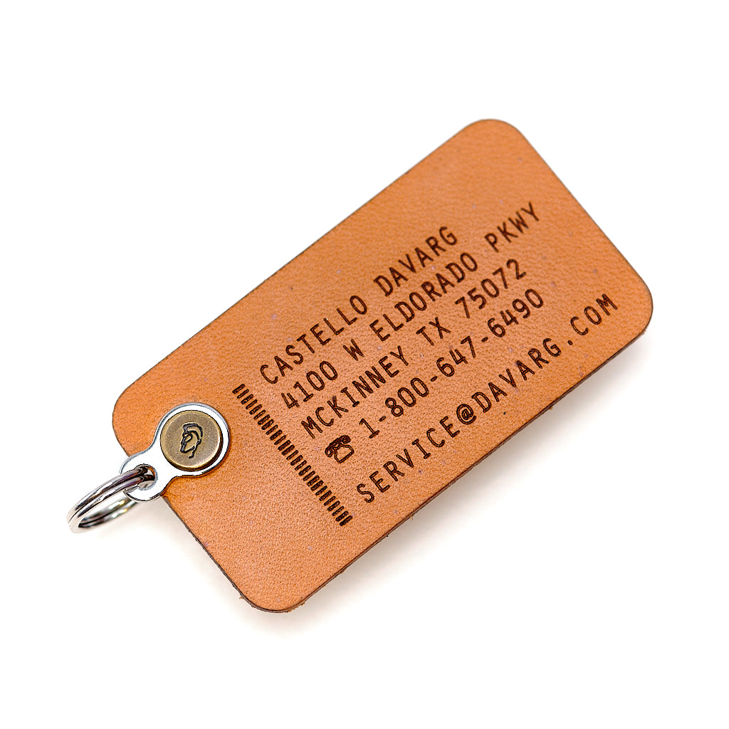 № 1105 KUNJ Leather Tag