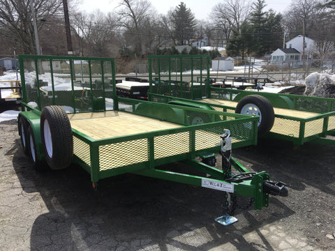custom built tandem axle trailers