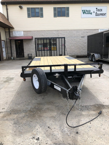 custom built deck over trailer