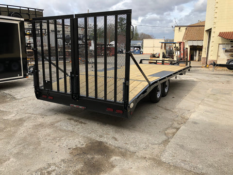 deck over trailers with ramp gate