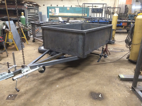 custom built single axle utility trailer with sides