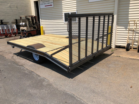 Custon built single axle deck over trailer