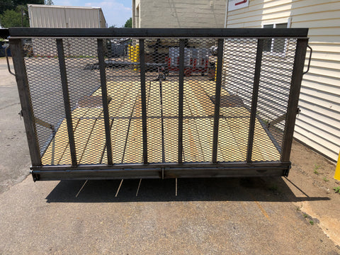 custom built single axle trailer with ramp gate