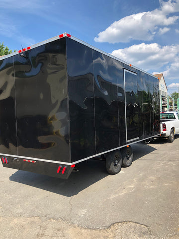 Custom built tandem axle enclosed trailer