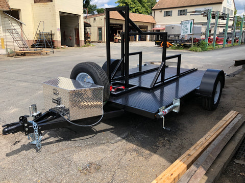 Custom built single axle utility trailer