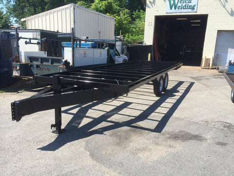 custom built tandem axle trailer