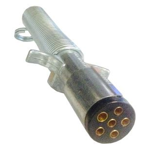 Pollak 11-605 6-Way connector plug with cable guard.