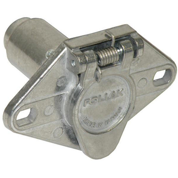 Pollak 11-609 6-Way Round Vehicle End Connector Socket - Welch Welding & Truck Equipment