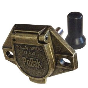 Pollak 11-851 Single Pole Vehicle End Connector - Welch Welding & Truck Equipment