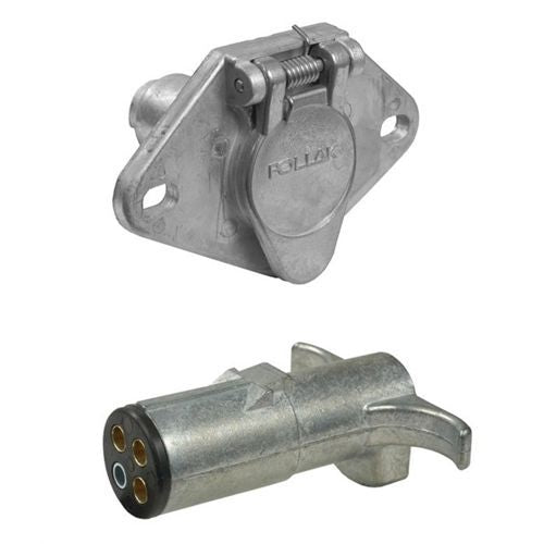 Pollak 11-400 4-Way Trailer Connector Assembly - Welch Welding & Truck Equipment