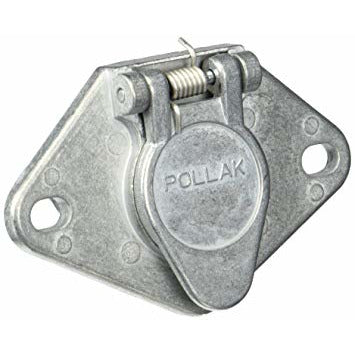 Pollak 11-404 4-Way Vehicle End Trailer Connector - Welch Welding & Truck Equipment