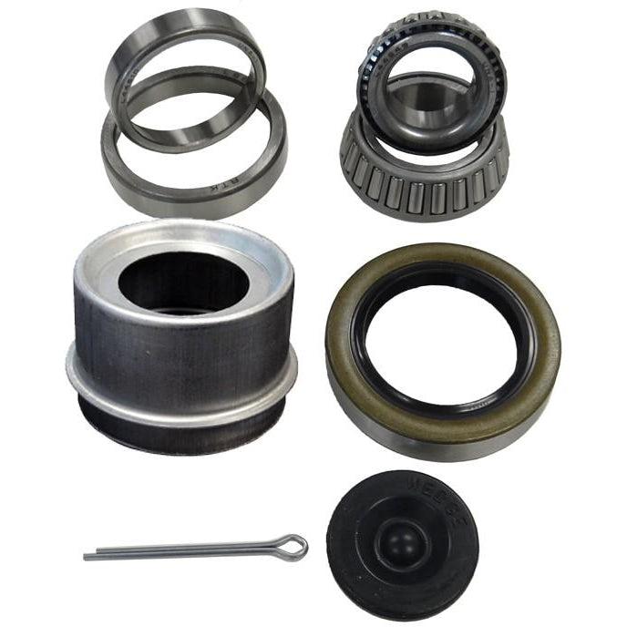 "Trailer bearing kit 1-3/8"" x 1-1/16"". Inner bearing 68149. Outer bearing 44649. Inner race 68111. Outer race 44610. BK-6 bearing"