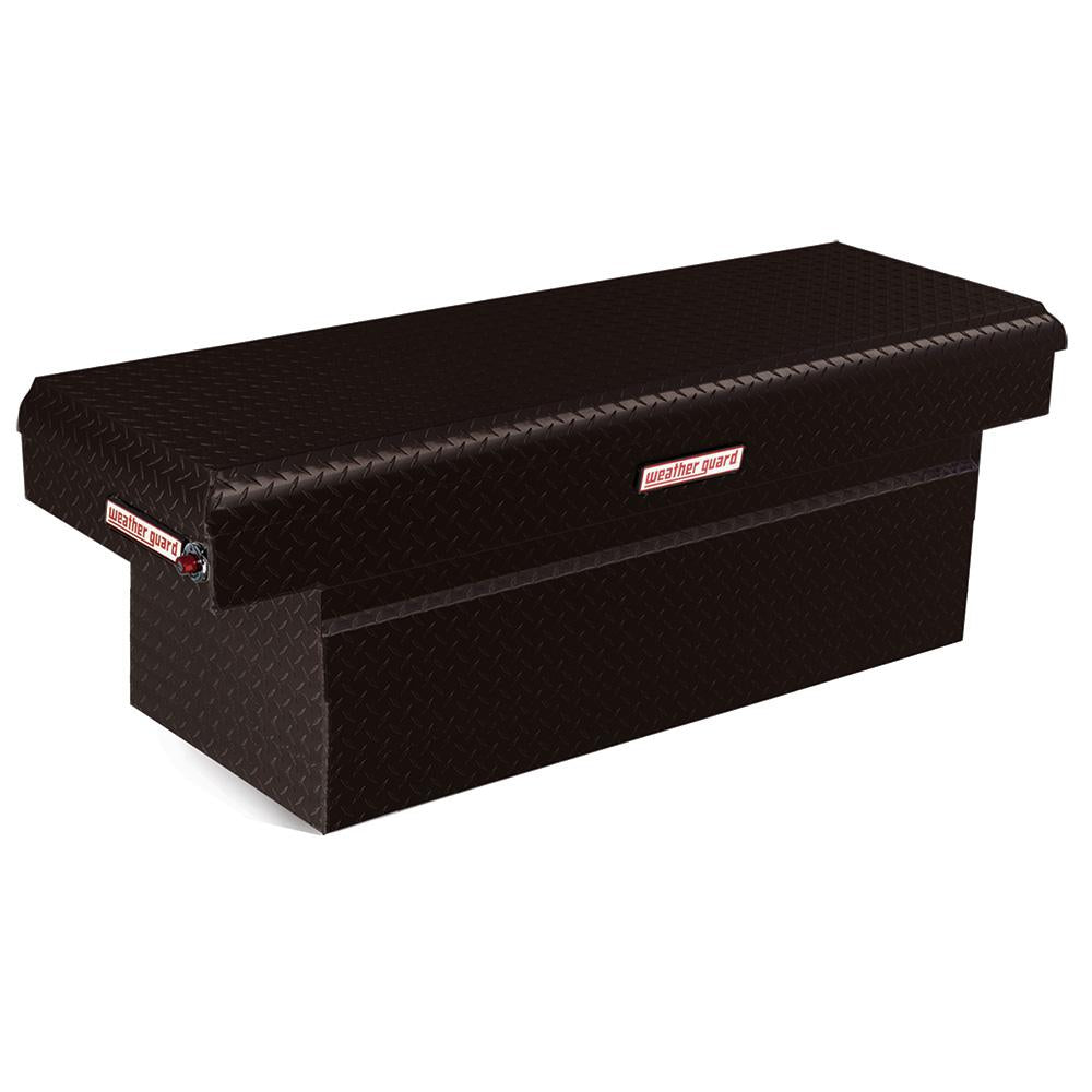 Weather Guard 123-5-01 extra deep black aluminum tool box. Weather guard tool box for sale