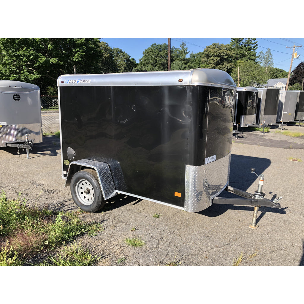 Wells Cargo 5 x 8 Black Road Force Trailer