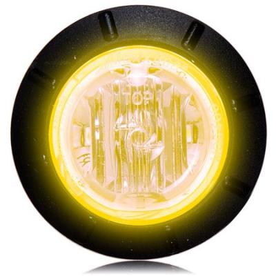 "Maxxima M09400Y Amber 1-1/4"" Mini Marker Light - Welch Welding & Truck Equipment"