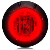 "Maxxima M09400R Red 1-1/4"" Round Marker Light"