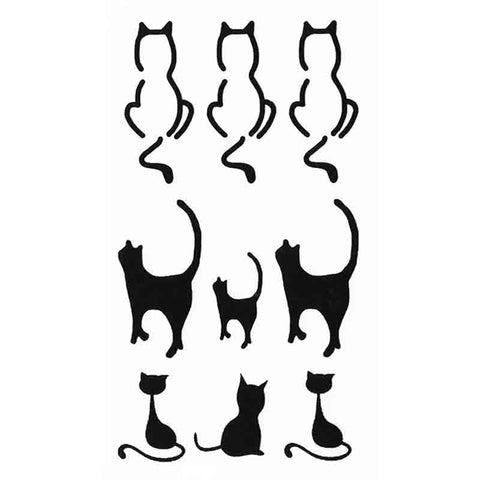 Tatouage Silhouette Chat