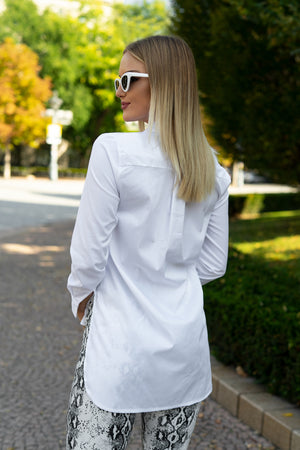Carolina White - White long collar shirt