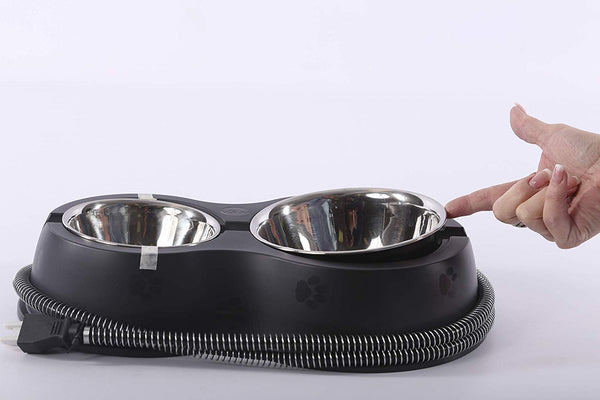 K&H PET PRODUCTS K&H Manufacturing Thermo-Kitty Cafe Heated Food & Water Bowl