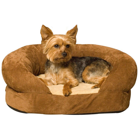 K&H Pet Products Ortho Bolster Sleeper Pet Bed Medium Brown 30""
