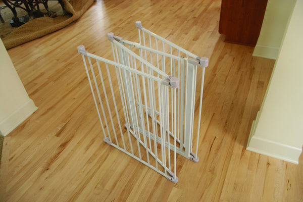 Extra tall pet gate with two doors small and large, folded up, from pet shop pet store, for you to buy pet supplies online.