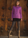 Short Sponge Collar Jacket - Morado