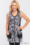 Creations Black & White Printed Vest