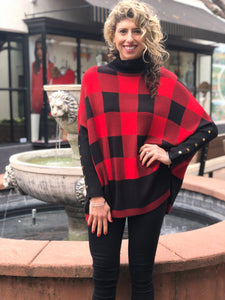 Red & Black Plaid Sweater by Keren Hart