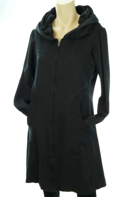 Color Me Cotton CMC Leah Hoodie Jacket - BLACK