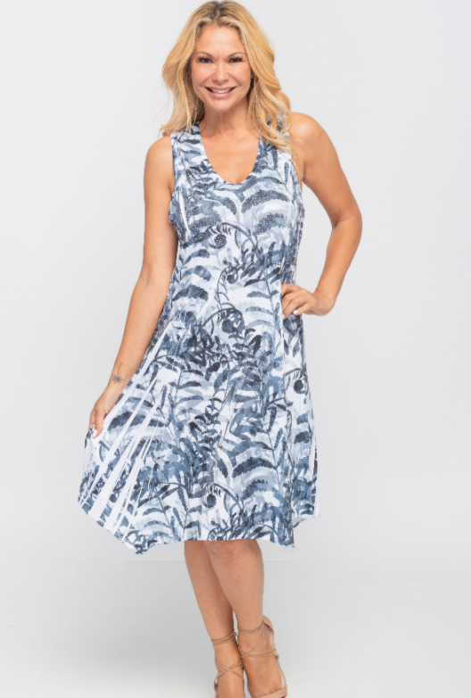 Creations Leaf Printed Dress