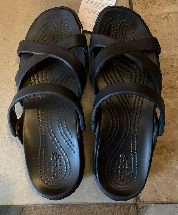 Black CROCS Sandal Slides - BLACK - Size 7 & 8