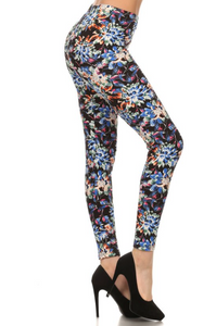 """Multi Floral"" Print Leggings"