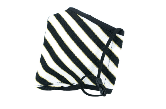 Berek Happy Metallic Stripe Black/ White M13093C