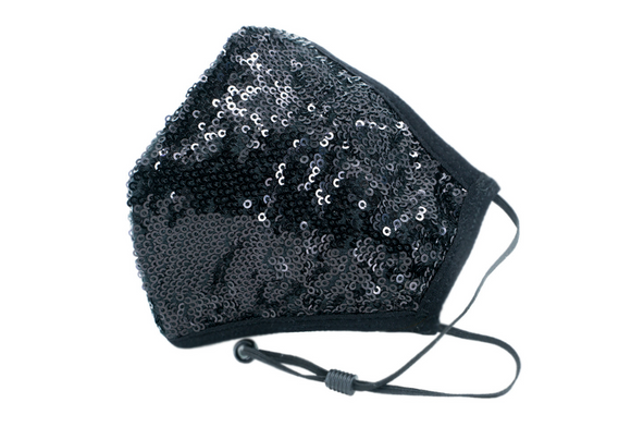 Berek All Over Sequin Mask Black L976937