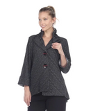 Moonlight Asymmetric Jacket in Black/Grey 8707-GRY/BLK