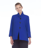 Moonlight by Y&S Bell Sleeve Button Front Shirt/Jacket in Blue - 2449-BLU