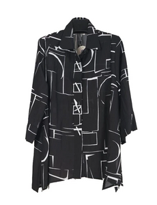NEW - Moonlight by Y&S Swing Shirt in Black & White - 2991-BLK