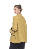 Moonlight Multi-Piping Textured Jacket in Mustard - 2997-MUS