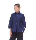 NEW - Moonlight Geometric Dotted Jacquard Button Front Jacket in Royal - 2449/2455TAF-ROY