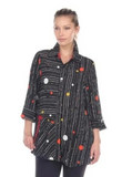 NEW - Moonlight Polka Dot Stripe Button Front Shirt in Multi - 2772