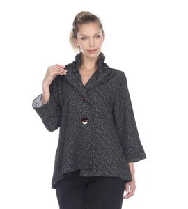 NEW - Moonlight Asymmetric Jacket in Grey/Black - 8707-G/B
