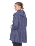 NEW - Moonlight Chevron Jacquard Button Front Jacket in Blue - 3156-BLU