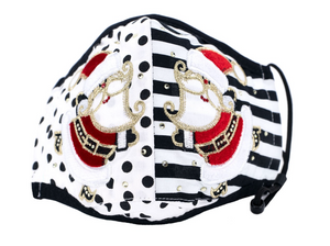 Double Santa Mask with Rhinestones