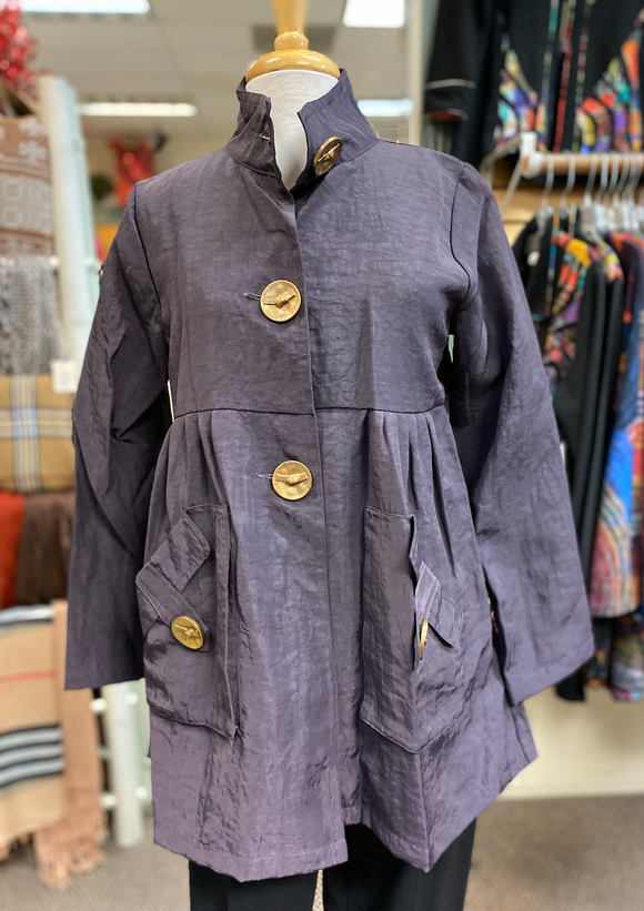 Dorman Feminine Raincoat in Plum