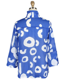 DAMEE SHEER POLKA DOT JACKET IN ROYAL BLUE & WHITE - 4684