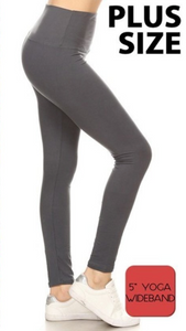 """Solid Black"" Leggings PLUS"