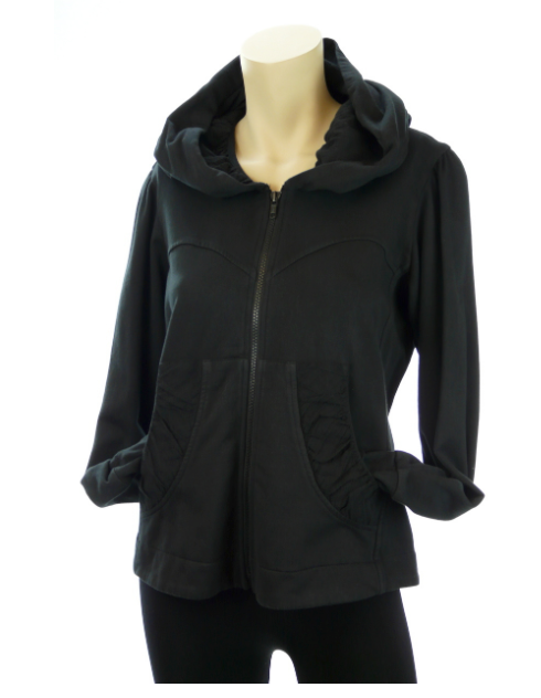 Color Me Cotton CMC Alana Hoodie Jacket-BLACK